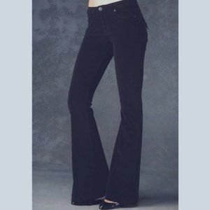 NWT HUDSON FERRIS FLARE linen jeans 31 gray